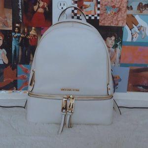 White Michael Kors backpack